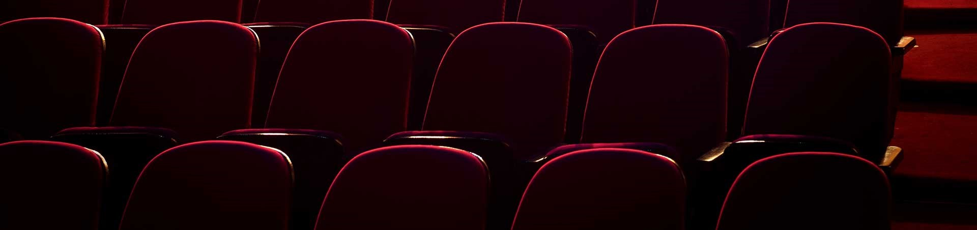 Red seats for an event