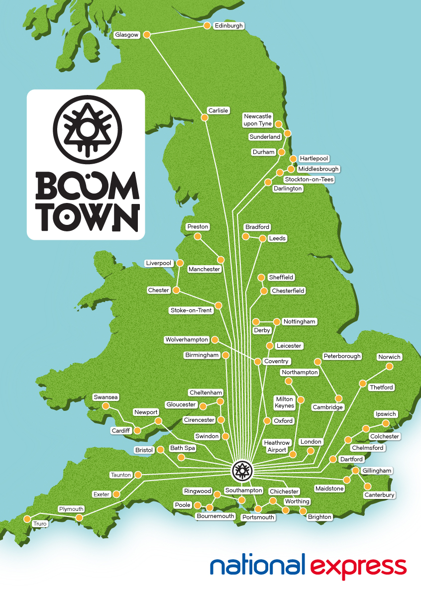 Boomtown route map