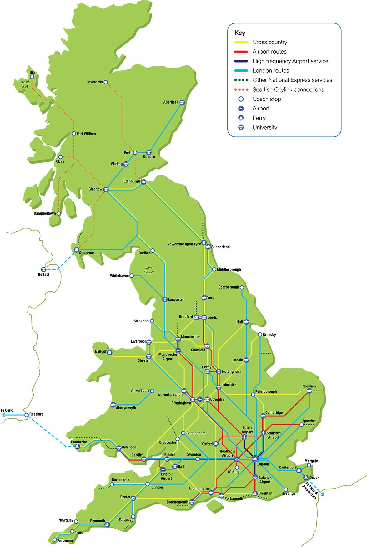 London to Stansted Route Map